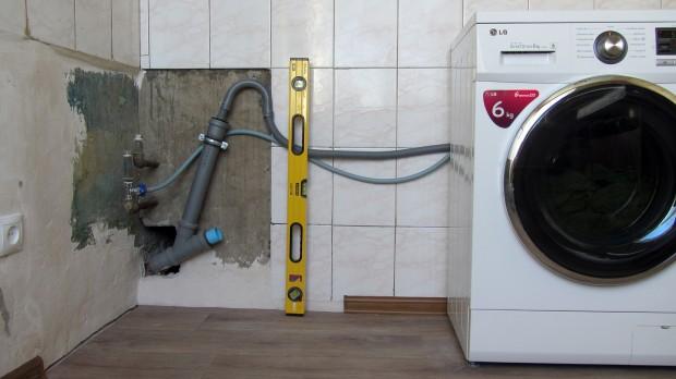 Подключение машины-автомат к водопроводу и канализации
