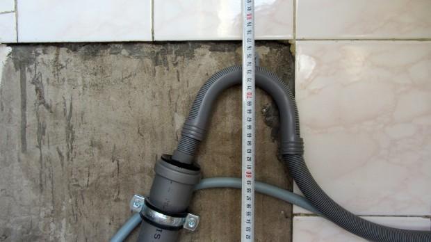 На какой высоте подсоединить стиральную машину к водопроводу