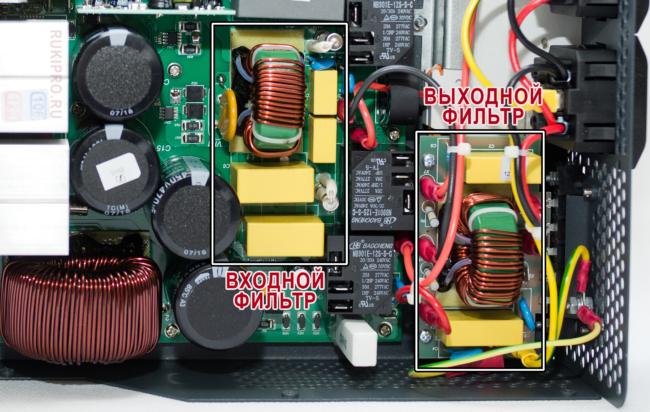 Встроенный фильтр от помех стабилизатора Штиль ИнСтаб 2500